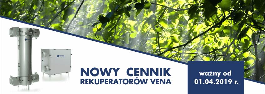 Nowy cennik rekuperatorów VENA
