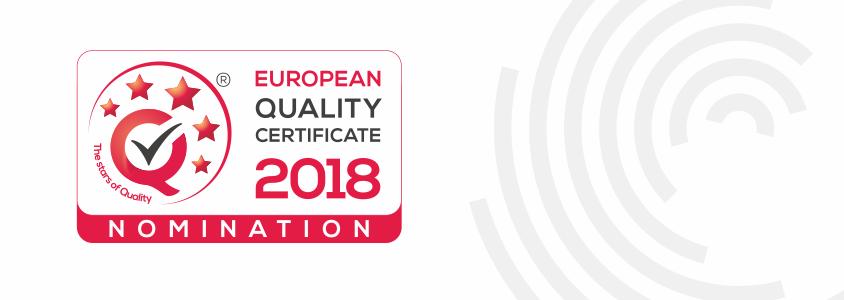 Nominacja do tytułu JAKOŚĆ ROKU 2018!