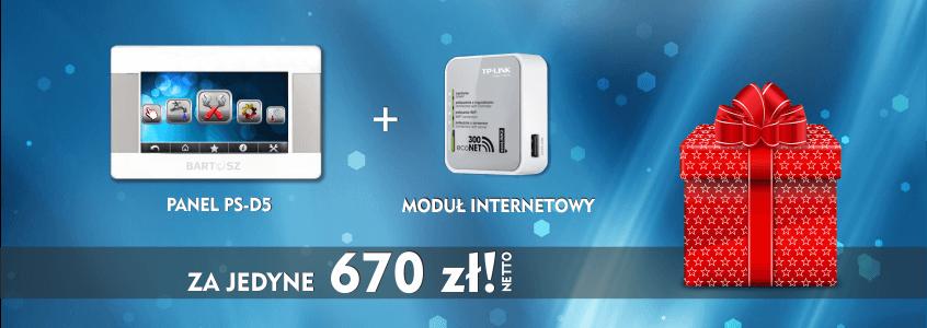PROMOCJA! Panel dotykowy PS-D5 + moduł internetowy w rewelacyjnej cenie!