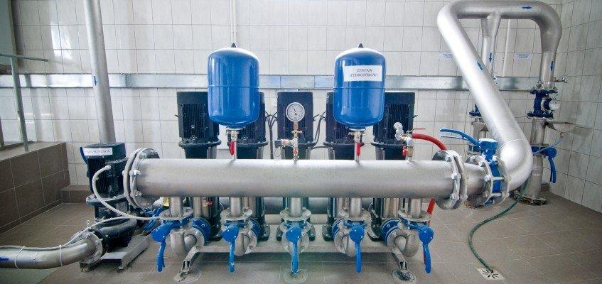 Pressure boosting units