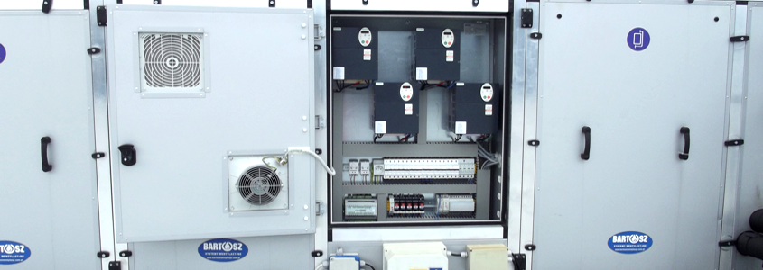 Funkcje sterowania centralami wentylacyjnymi